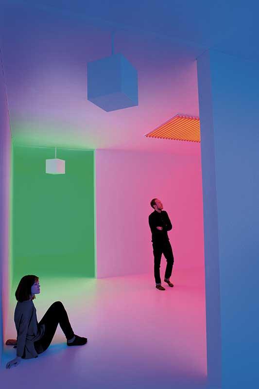 Carlos Cruz-Diez – Chromosaturation at Light Show (Photography by Linda Nylind)