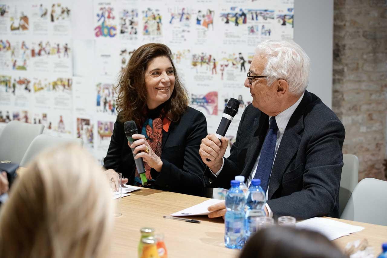 Christine Macel e Paolo Baratta Photo by Andrea Avezzu Courtesy of La Biennale di Venezia