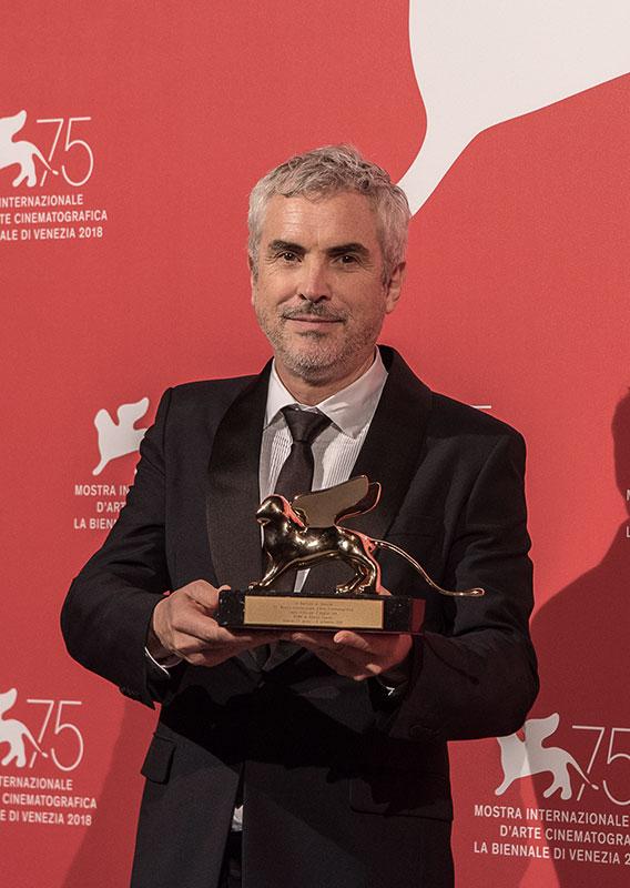 Alfonso Cuarón Ph Rossana Viola Veneziadavivere Venezia75 Cinema2018 Premiazioni