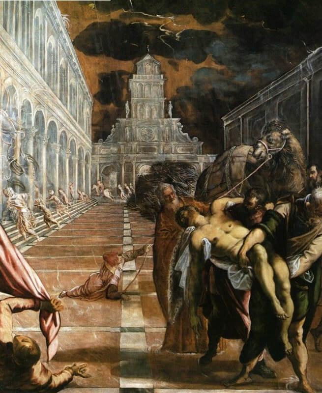 Tintoretto - Ritrovamento del corpo di San Marco
