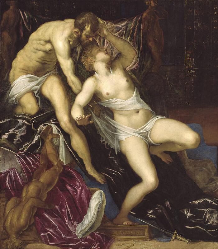 Tintoretto - Tarquinio e Lucrezia