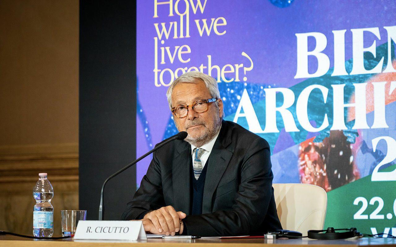 Presidente Roberto Cicutto conferenza stampa 12 aprile 2021 Photo By Andrea Avezzu Courtesy of La Biennale di Venezia
